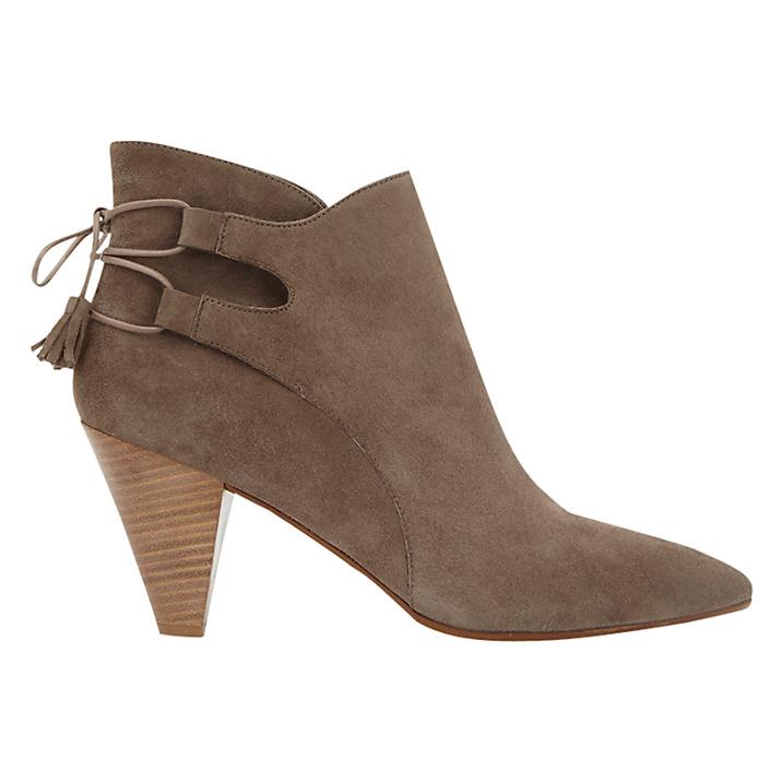 winter boots cone heels
