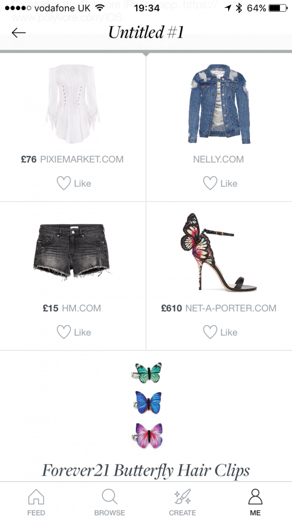 Polyvore Items on Style Board