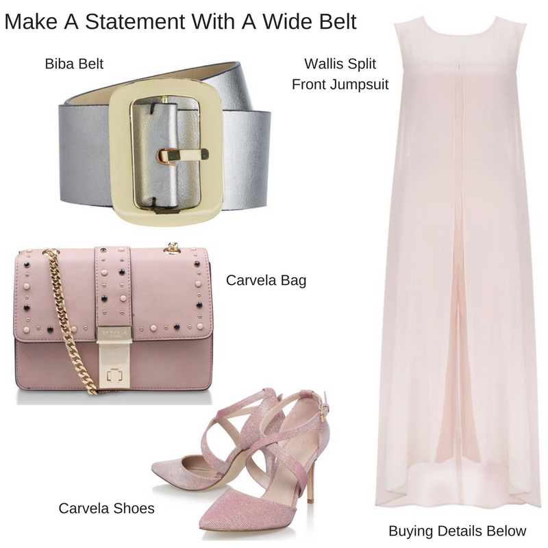 wear a belt with a jumpsuit