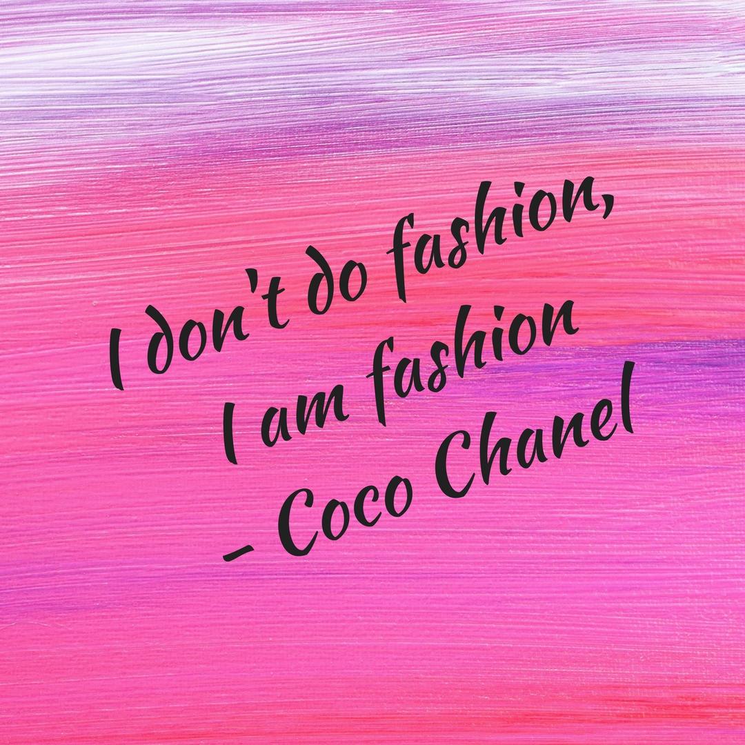 Coco Chanel quote fashion