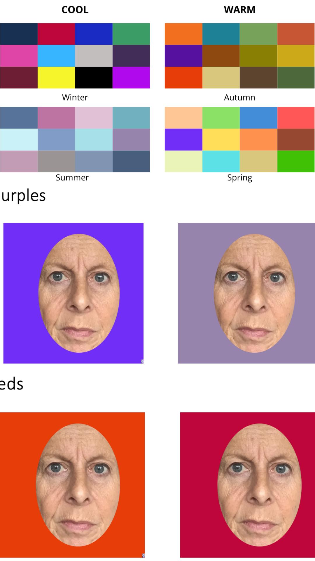 Online colour analysis example