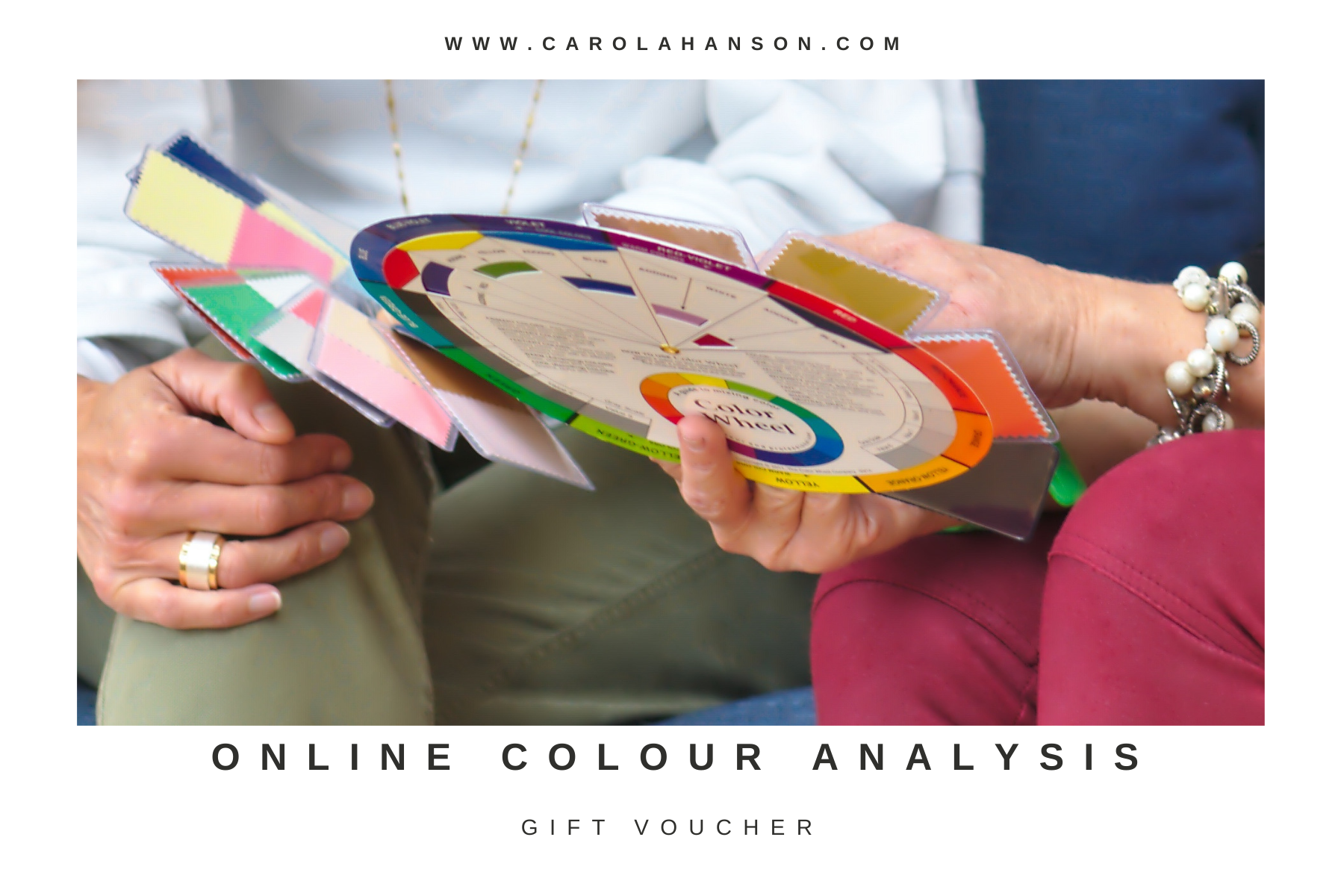 Online colour analysis gift voucher