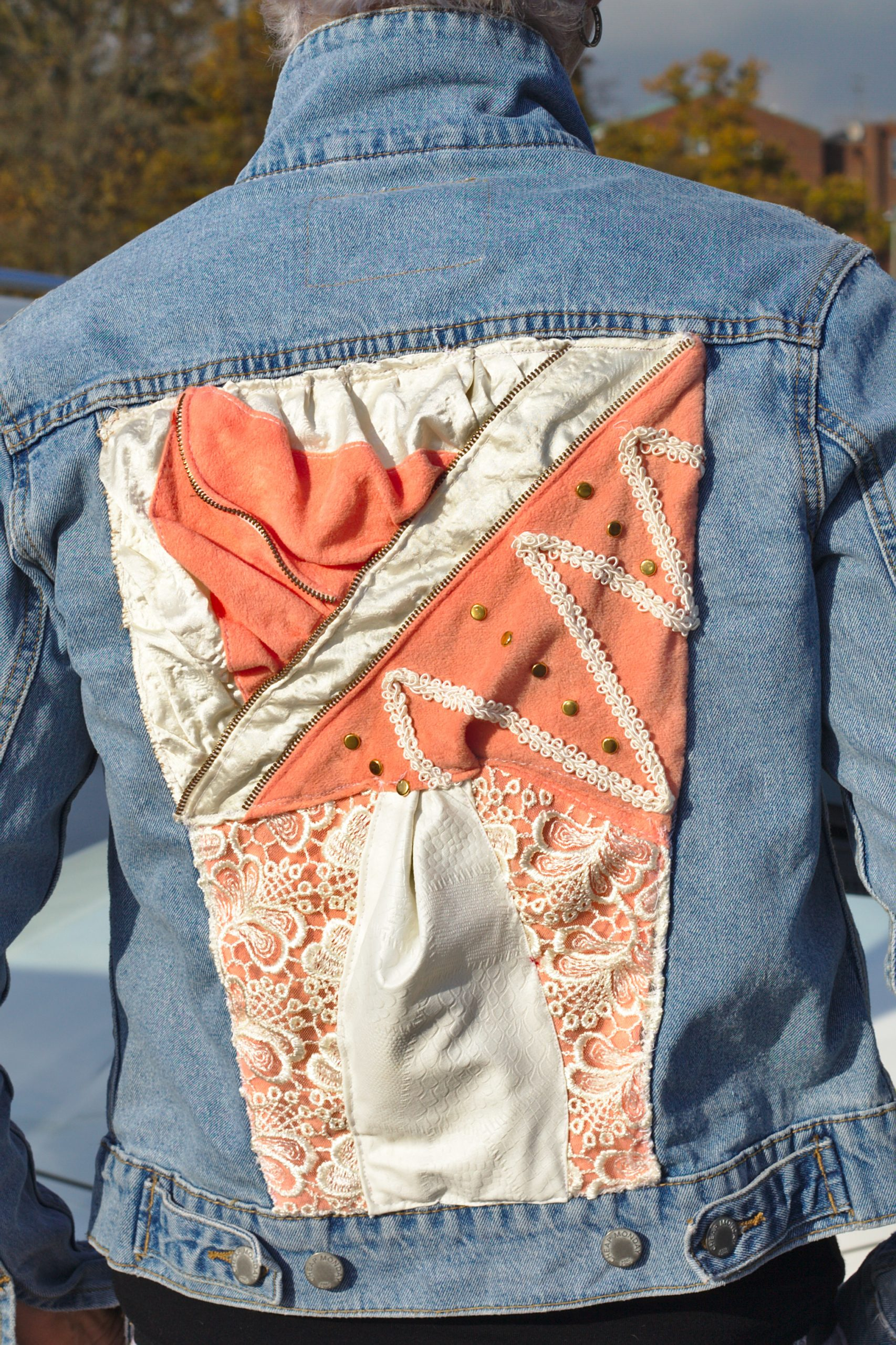 repurposing denim jacket