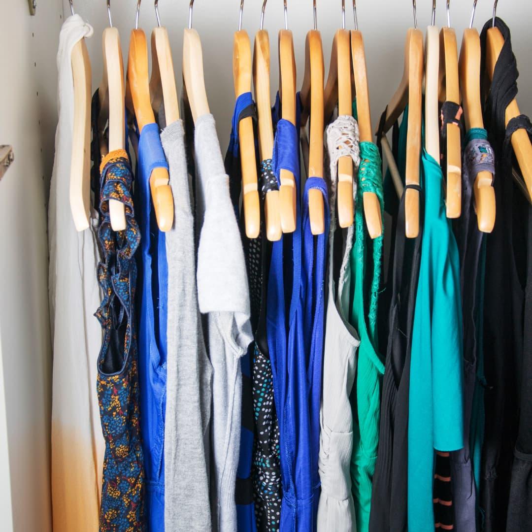 Clothes rail wardrobe management consultation